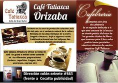 Un Café con el mejor Aroma y Sabor de la Sierra de Zongolica, ademas de ser La primera Cafebreria y Cafe Pendiente en Orizaba