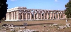 1° templo de Hera, Pasteum, Itália. Variações das proporções Dóricas