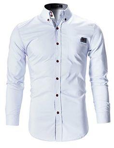 FLATSEVEN Mens Slim Fit Plaid Pointed Casual Dress Shirts... https://www.amazon.com/dp/B01HAA2AW8/ref=cm_sw_r_pi_dp_T3cMxbNT1JFZC