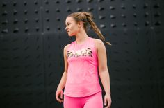 Viceroy activewear top from Faser. Neon Pink