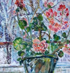 {Yelena Patskevich} Original Painting, Flowers, 20'x24': Snow is falling