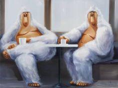 "Saatchi Art Artist Isabelle Alford-Lago; Painting, ""Hamilton and Steve"" #art"