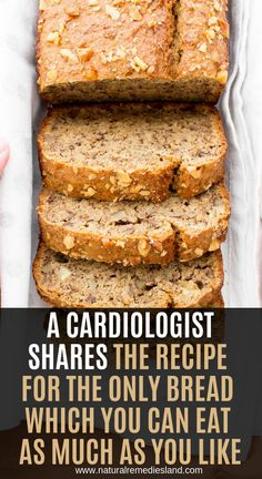Healthy bread - A Cardiologist Shares The Recipe For The Only Bread Which You Can Eat As Much As You Like Natural Remedies Land Gluten Free Recipes, Low Carb Recipes, Diet Recipes, Cooking Recipes, Recipies, Candida Recipes, Banana Recipes, Healthy Recipes, Diabetic Recipes