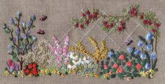 We do not carry Canevas Folies Embroidery anymore, but would recommend Lorna Bateman and the Bluebird Embroidery Company for some fun surface embroidery projects. And feel free to browse our full Embroidery Collection and Cross Stitch Collection. Brazilian Embroidery Stitches, Types Of Embroidery, Silk Ribbon Embroidery, Crewel Embroidery, Embroidery Thread, Embroidery Patterns, Beginner Embroidery, Blanket Stitch, Satin Stitch