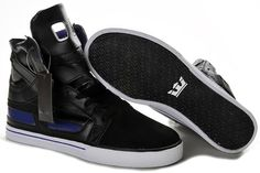 Cheap Supra Skytop II High Tops Black Purple Mens Shoes A111