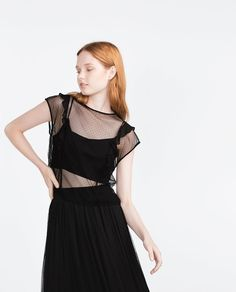 Image 2 of SHEER FRILLED TOP from Zara