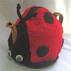 Ladybird Tea Cosy  KNITTING PATTERN  downloadable by RianAnderson, $3.50