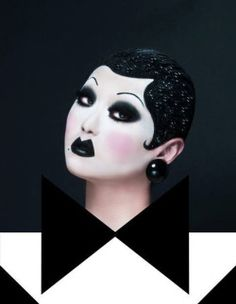 """Kim Chi is the stage name of Sang-Young Shin (신상영), a drag queen, performer, makeup artist and one of the Season 8 runner-ups of RuPaul's Drag Race. Originally named """"Jizzney Princess"""", Kim changed it. She was inspired by the Korean food kimchi. Drag Queens, Drag Makeup, Makeup Art, Asian Drag Queen Makeup, Mime Makeup, Kimchi Drag Queen, Kim Chi Drag, Drag Me To Hell, Bald Cap"""