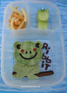 Bento Lunch: CuteZCute Frog Bento  #bento #Allthingsforsale #frog @EasyLunchboxes www.facebook.com/BentoSchoolLunches