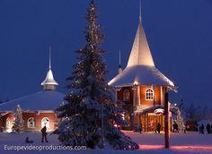 Santa Claus Holiday Village in Rovaniemi in Lappland