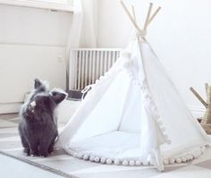 Rabbit teepee rabbit bed rabbit house bunny teepee pet #rabbithouses