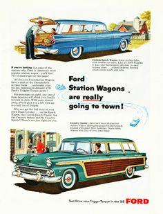 1955 Ford Station Wagon Ad