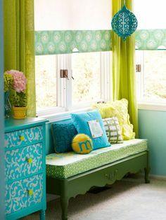 Gardinen blumen Grün für alle Saisons frisch farben