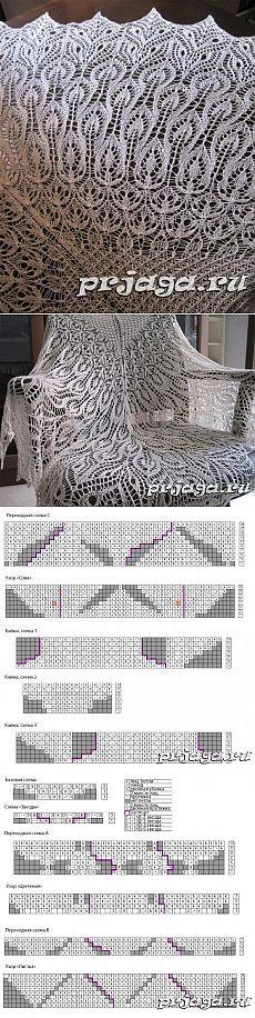 шали палантины шарфы | Простые схемы. Экономим время на Постиле
