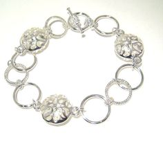 Silver Filigree Bracelet by BrankletsNBling on Etsy,