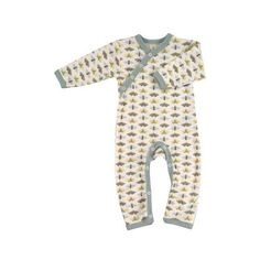 75fc8844a2 Pigeon Organics Country Garden Romper Blue Moth via Polyvore featuring baby  sleepsuit Organic Baby Clothes