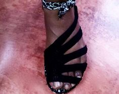 crochet sandalias de ganchillo con suela de goma | Etsy