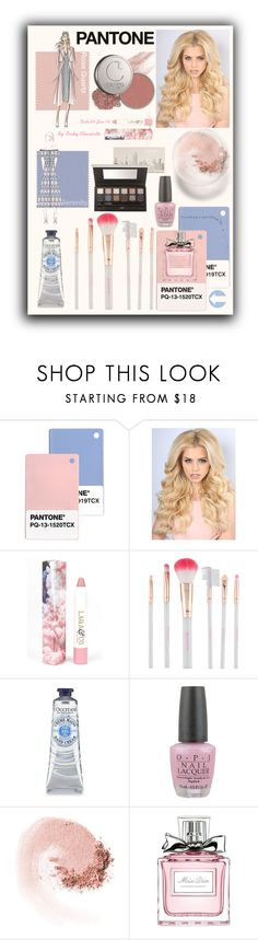 """Pantone Beauty: Rose Quartz and Serenity"" by pinky-chocolatte ❤ liked on Polyvore featuring beauty, LAQA & Co., Accessorize, OPI, NARS Cosmetics and Christian Dior"