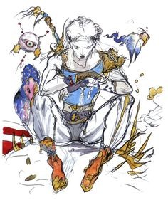 Yoshitaka Amano - Bartz Klauser - Final Fantasy V