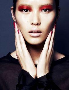 Liu Wen Updated Liu Wen, Numero China, March 2011 – Das schönste Make-up Liu Wen, Make Up Looks, Beauty Make Up, Hair Beauty, Nailart, Beauty Crush, Red Eyeshadow, Dramatic Eyeshadow, Metallic Eyeliner
