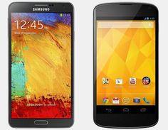 Vergelijking Samsung Galaxy Note 3 vs LG Nexus 4 | Versus OS