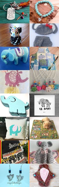 Trunks Up for Luck by Tina Cuva on Etsy--Pinned+with+TreasuryPin.com