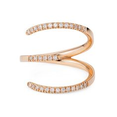 Sarah Ho Number 3 rose gold ring with diamonds, from the new Numerati collection (from £1,600).
