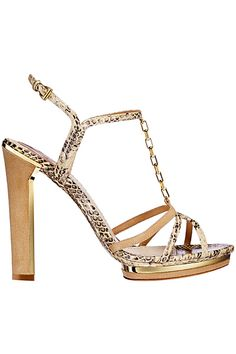 Dior Spring/Summer 2012 snake-stamped leather chain sandal ($1,050).