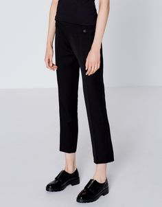 Skinny trousers with rear yoke - Trousers - Clothing - Woman - PULL&BEAR Finland