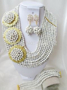Find More Jewelry Sets Information about Splendid! White Turquoise 3 Brooches Costume Necklaces Nigerian Wedding African Beads Jewelry Set TC107,High Quality Jewelry Sets from Alisa's Jewelry DIY Store on Aliexpress.com Turquoise Beads, Turquoise Stone, Stone Necklace, Stone Jewelry, Diy Store, Cheap Necklaces, Costume Necklaces, China Jewelry, African Beads