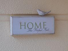 Artesanato fácil - Placa para porta de entrada