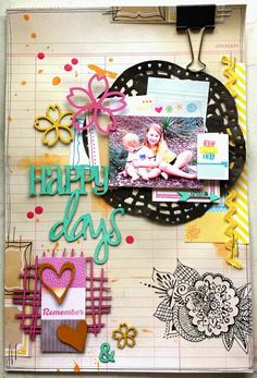 Happy Days layout by Amanda Baldwin