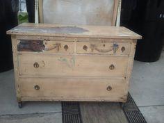 Antique Dresser and Mirror Refurb
