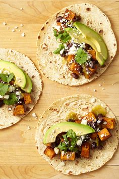 Swap ground beef for spicy sweet potatoes for the ultimate vegetarian taco.