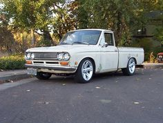 Datsun truck || My first car, a 1969 Datsun truck. This one is much nicer than the one I had!