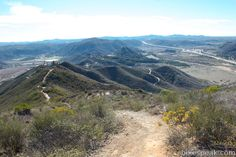Monserate Mountain  in Fallbrook 4.4 miles, 1200 elevation