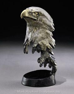 Liberty Bronze Eagle Sculpture