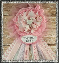 Its A Girl Mommy To Be Corsage Baby Shower by BloomingParty