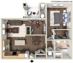 Appaloosa Floor Plan 949 sq ft http://www.gatewayat2534.com/
