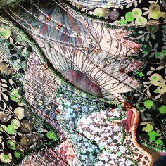 "99 Likes, 3 Comments - Heather Everitt (@heather.everitt.emb) on Instagram: ""More wing stitching #makersgonnamake #libertyprint #embroideryart #moth #mothsofinstagram #bovey17…"""