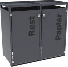 Trash Chute, Outdoor Trash Cans, Bauhaus, Aluminium, Things To Buy, Locker Storage, Recycling, House Design, Cabinet