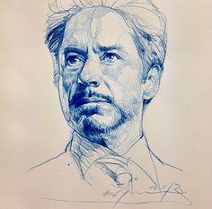 Quick sketch of Robert Downey Jr by Alvin Chong