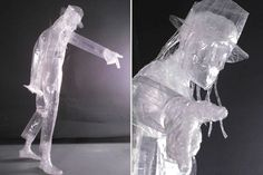 Jigme S, sculpture  'King of Pop', Scotch Packaging Tape 'only' for a competition in the US by the Scotch Brand. © Scotch Packaging Tape