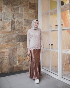 28 Ideas Wedding Blue Dress Pictures For 2019 Model Kebaya Brokat Modern, Model Kebaya Muslim, Dress Brokat Muslim, Kebaya Modern Hijab, Kebaya Hijab, Batik Kebaya, Kebaya Dress, Muslim Dress, Batik Dress