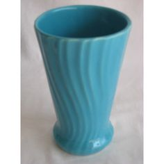 Bauer Turquoise Vase  Los Angeles-based Bauer manufactured this bright turquoise vase.