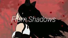 Black the beast descends from shadows Blake Belladonna, Rwby, Shadows, Beast, Random, Art, Darkness, Ombre, Casual