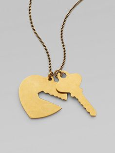 Whether you're passing the holidays together for the first time, or this is one out of many, give her the key to your heart with this necklace from Stella McCartney