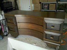 Tatum's dresser!!! Bought on Craigslist and refinished by her Daddy!!! :)