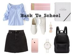"""""""Back To School"""" by emmy-calmius on Polyvore featuring Gap, PB 0110, WithChic and Daniel Wellington"""