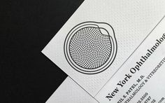 New York Ophthalmology / business cards designed by Dain Gordon. via FPO #letterpress #emboss #collateral